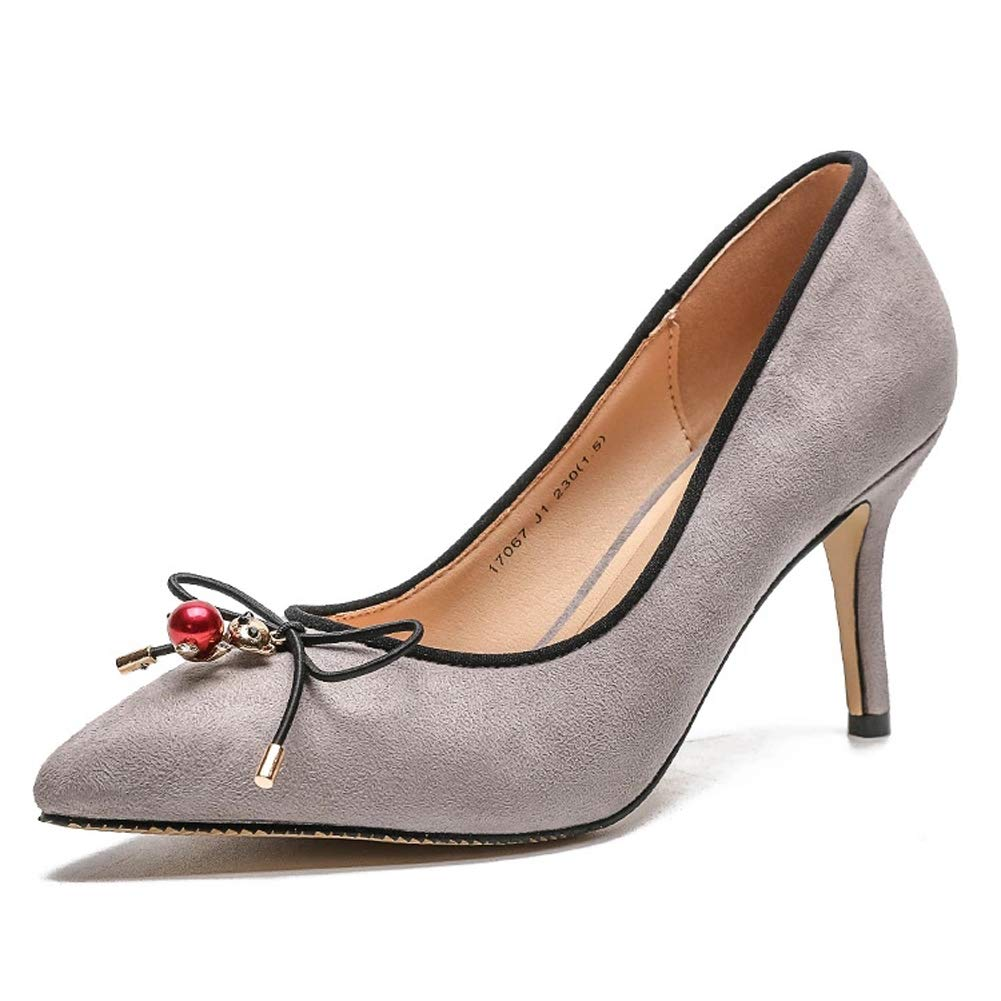 HLG HLG HLG Tacco a spillo da donna scarpe con tacco a spillo bocca superficiale scarpe in microfibra da sposa | Economici Per  fd6056