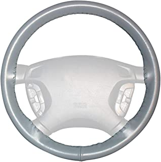 product image for Wheelskins Genuine Leather Grey Steering Wheel Cover Compatible with Nissan Vehicles -Size C