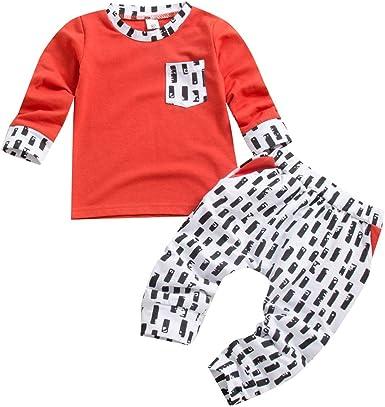 puseky bebé bebé niño niña Trajes Camisa de Manga Larga + Pantalones Conjunto de Ropa Casual: Amazon.es: Ropa y accesorios