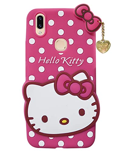 the best attitude 90306 cc0a1 COVERNEW Rubber Back Cover for Vivo Y95-1807/1818 - Pink  HelloKittyyVivoY95Pink