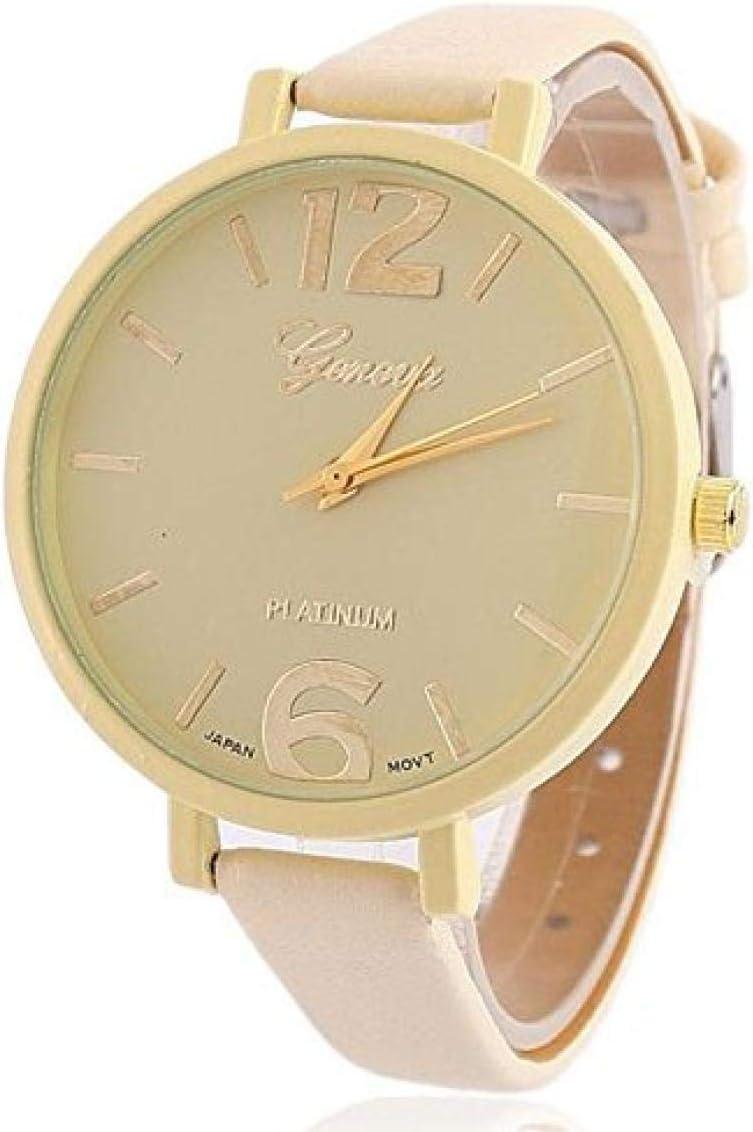 Relojes Hombre Elegantes,un Reloj de Cuarzo con Correa de Cuero para Mujer de Moda Juvenil literaria @ 7