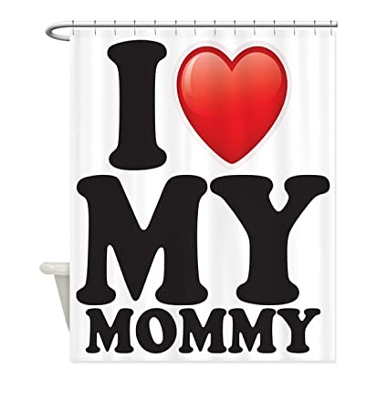 crystal emotion i love my mommy mom mother heartmothers day gifts primitive shower curtain