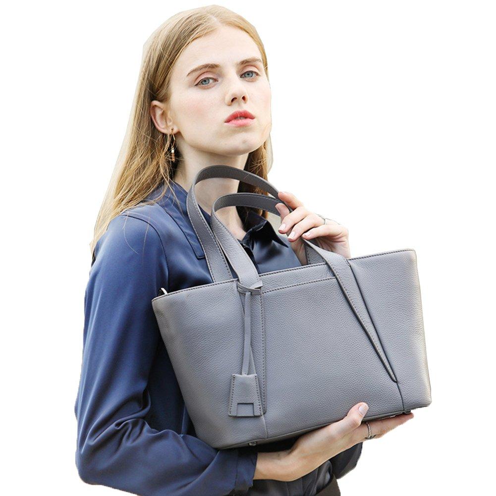 Cow Leather Women Hobo Handbags | Fashion Top Handle Handbags | Top Zipper Closure Satchel Handbags | Leather Hobo Tote Purse | Use it as Shoulder Bag With Detachable Shoulder Strap (Gray)