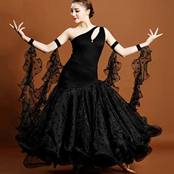c14824ba1e High-quality Black Lace and Tulle with Draped Great Swing Modern Ballroom  Dance Performance Dresses