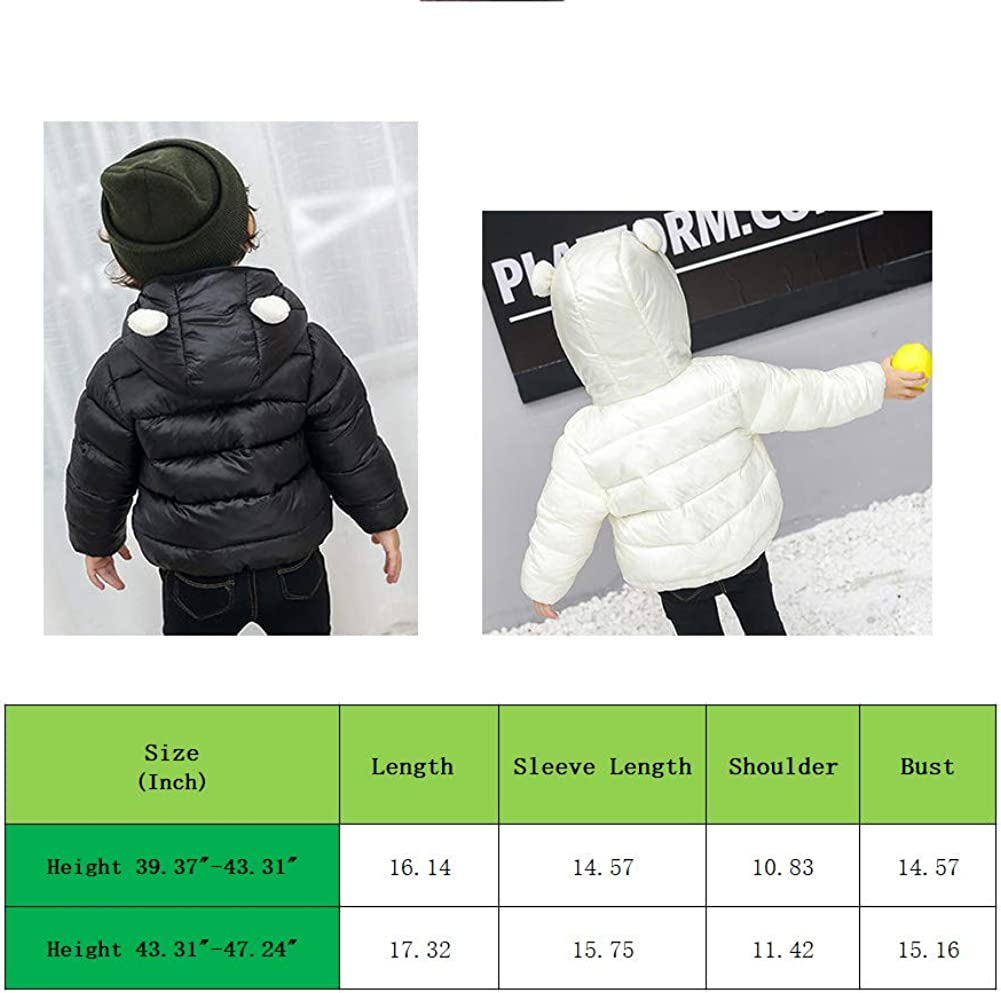 Maiheimoon Boys and Girls Lightweight Jacket Kids Winter Hoodie Coats.