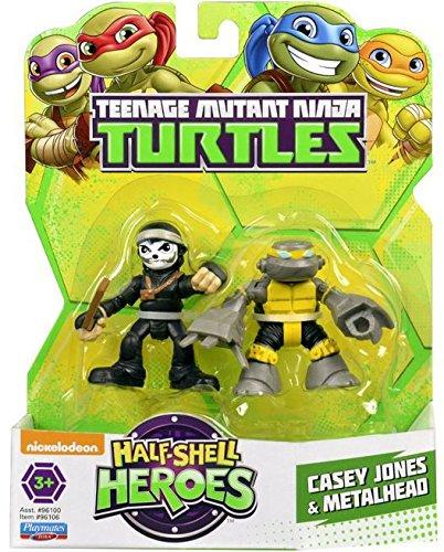 Teenage Mutant Ninja Turtles Pre-Cool Half Shell Heroes Metalhead and Casey Jones Figures]()