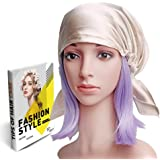 Savena 100% Mulberry Silk Night Sleeping Cap for Long Hair Bonnet Hat Smooth Soft Many Colors, Hair Care Ebook Included…