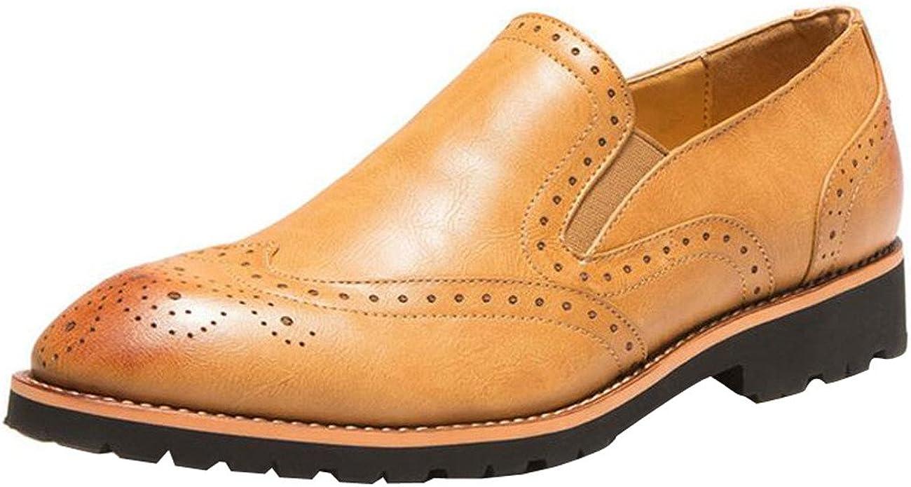 Orangetime - Zapatos de vestir brogues Hombre , color amarillo, talla 44 EU: Amazon.es: Zapatos y complementos
