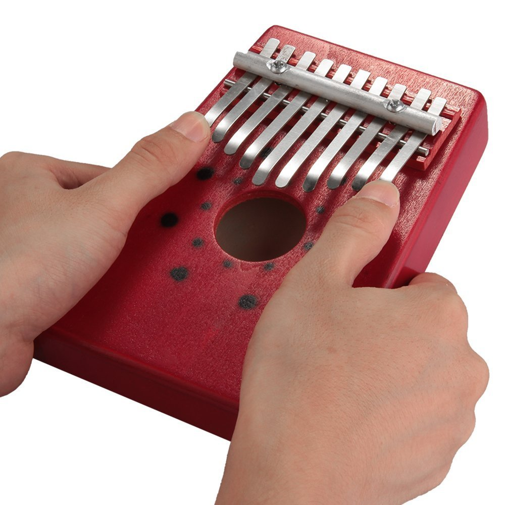 Xatan Thumb Piano 10 Key Kalimba Mbira Likembe Sanza Finger Thumb Piano Pine Wood 101-M-I