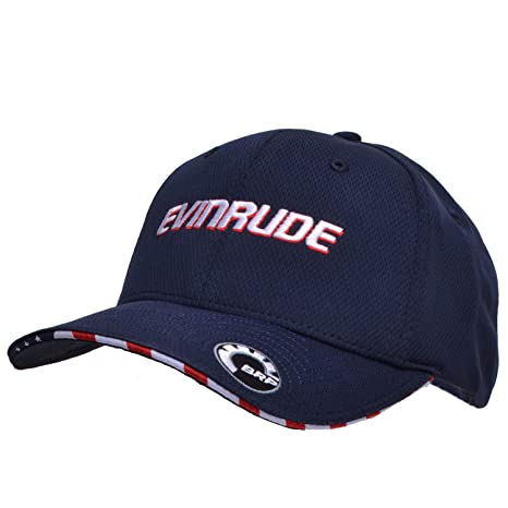 13a3095329073 Amazon.com  OEM BRP Evinrude E-Tec Navy Moisture Wick Hat Cap  Automotive