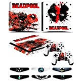 PS4 Slim Skins - Decals for PS4 Controller Playstation 4 Slim - Stickers Cover for PS4 Slim Controller Sony Playstation Four Slim Accessories with Dualshock 4 Two Controllers Sk...