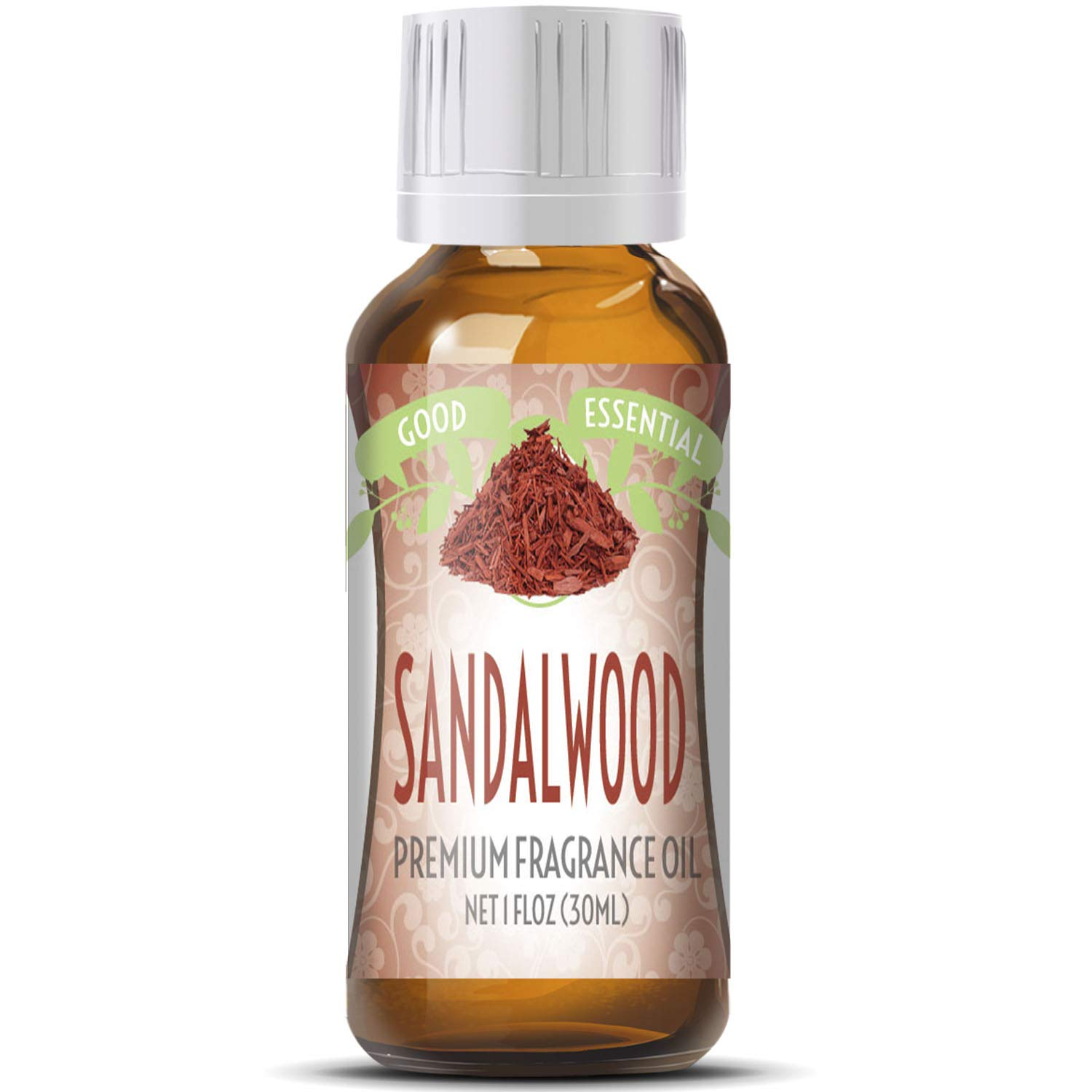 Sandalwood Scented Oil by Good Essential (Huge 1oz Bottle - Premium Grade Fragrance Oil) - Perfect for Aromatherapy, Soaps, Candles, Slime, Lotions, and More!