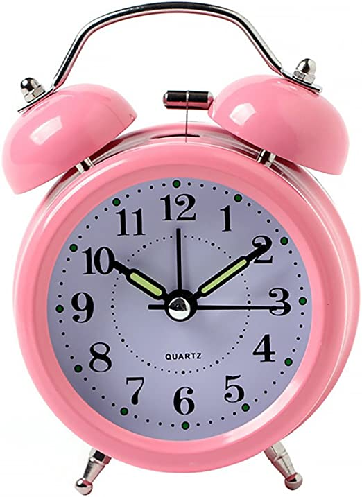 Reloj despertador clásico retro de doble campana, mini reloj ...