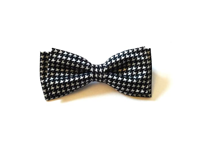 Amazon.com: Black and White Bow Tie with Houndstooth Pattern: Handmade