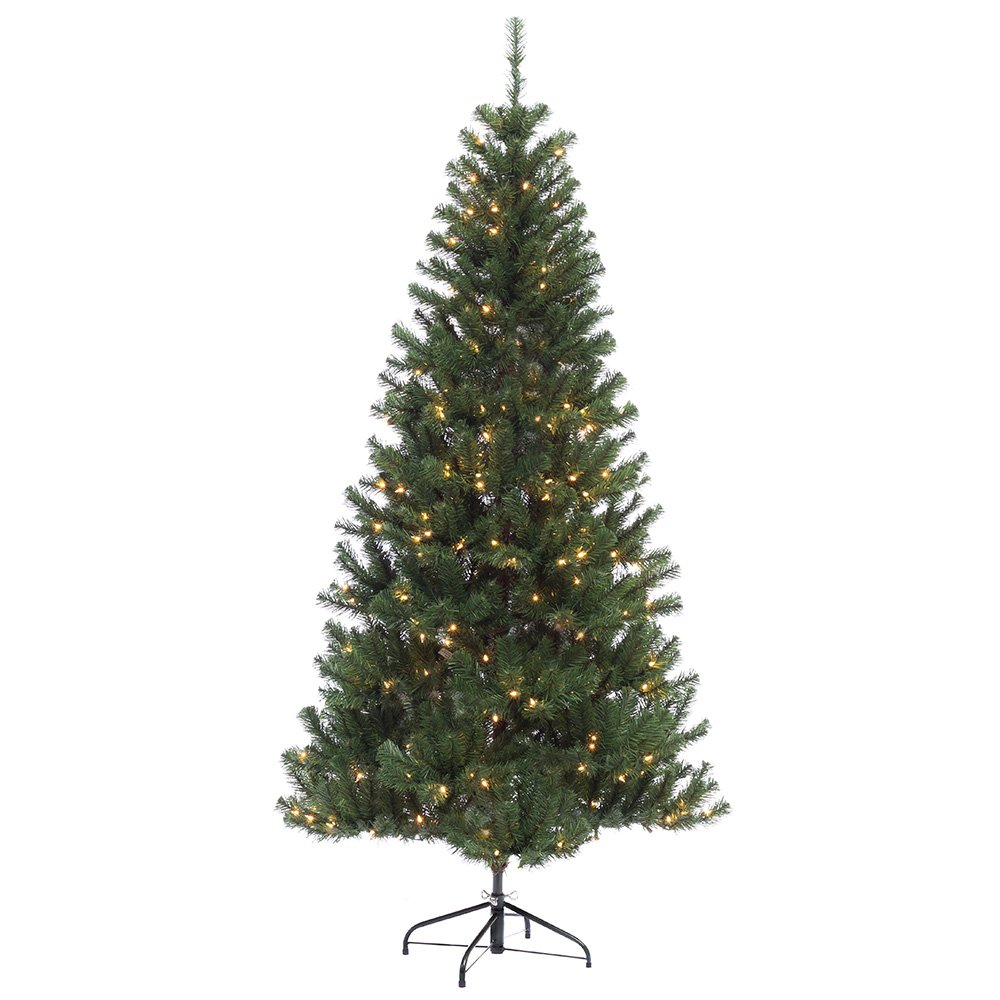 6 1/2 ft. Pre-lit Northern Fir Slim Artificial Christmas Tree 300 UL listed Clear Lights by Puleo International