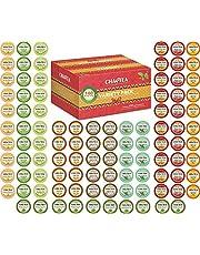 K-Cup Tea Variety Sampler Pack, 100-Count Keurig K Cups, Multiple Flavors (Green Tea, Black Tea, Jasmine, Earl Grey, English Breakfast, Oolong Green Tea)