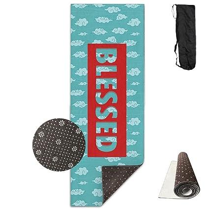 Amazon.com : Blessed Yoga Mat Towel For Bikram/Hot Yoga ...
