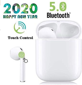 Auriculares Bluetooth 5.0, Auriculares inalámbricos, Auriculares estéreo inalámbricos 3D con IPX5 a Prueba de Agua, emparejamiento automático, para Auriculares Apple Airpods Android/Samsung: Amazon.es: Electrónica