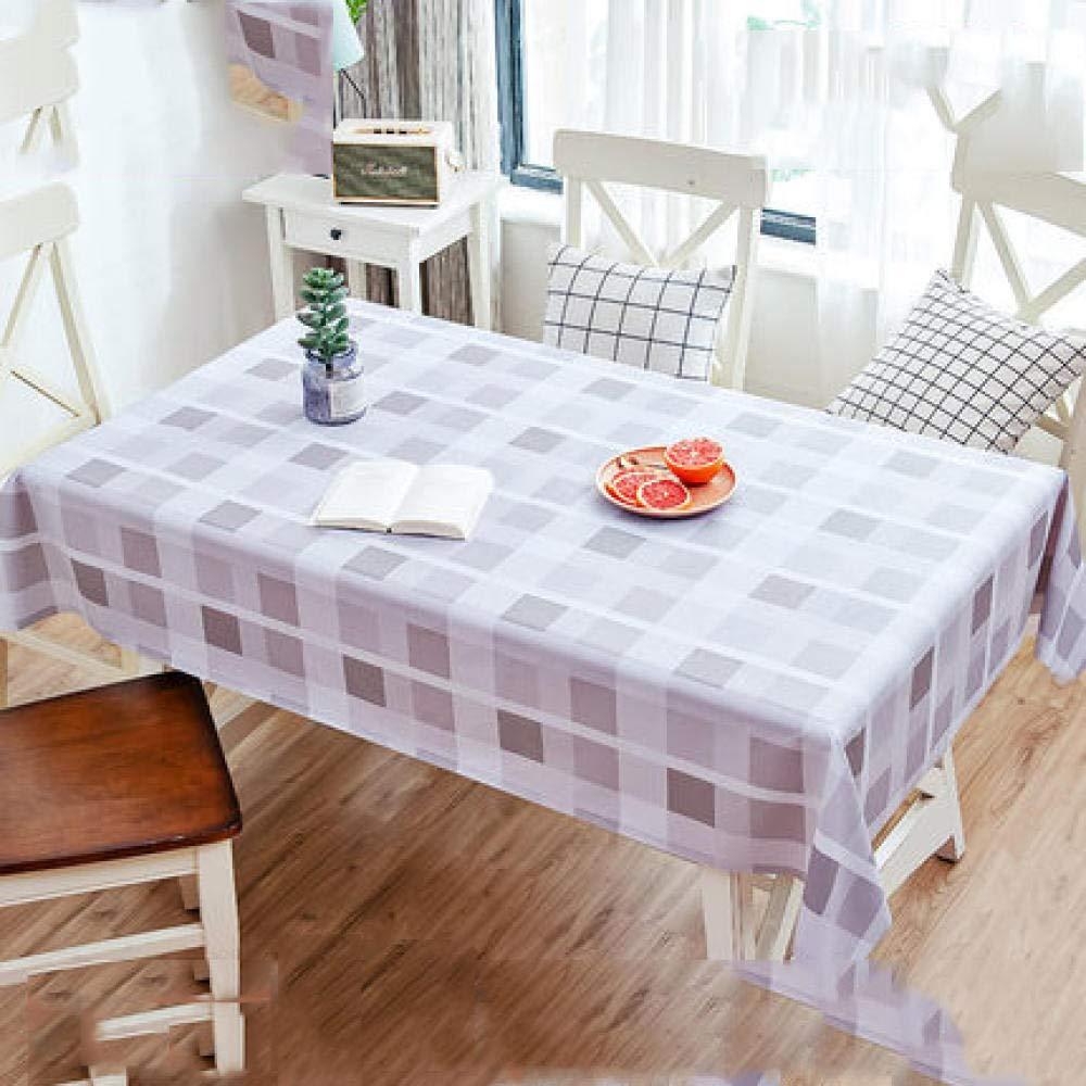 WJJYTX tischdecke Plastik, Square Wipe Clean Tischdecke Vinyl PVC Wasserdichtes undölbeständiges Einweg-Tischsetgrau @ 135 * 200