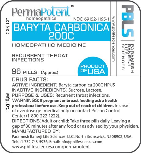 Baryta carbonica 200C, 96 Pellets, Homeopathic Product by Paramesh Banerji  Life Sciences,