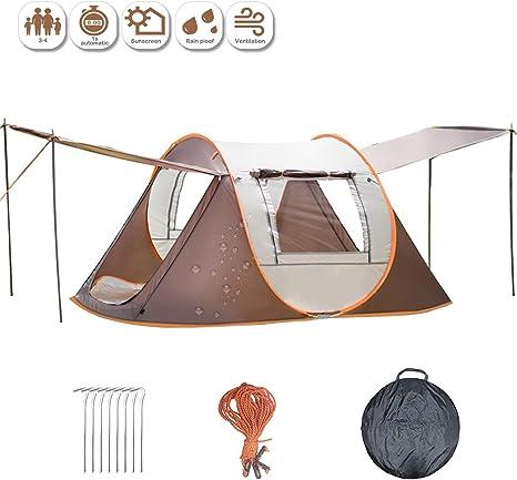 Tienda de Campaña 2s Pop Up Tienda Instantánea para 2 Personas con Bolsa para Camping, Festivales, Playa (marrón): Amazon.es: Deportes y aire libre