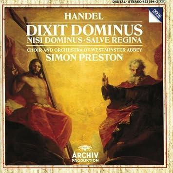Handel: Dixit Dominus / Nisi Dominus / Salve Regina: unknown: Amazon.es: Música