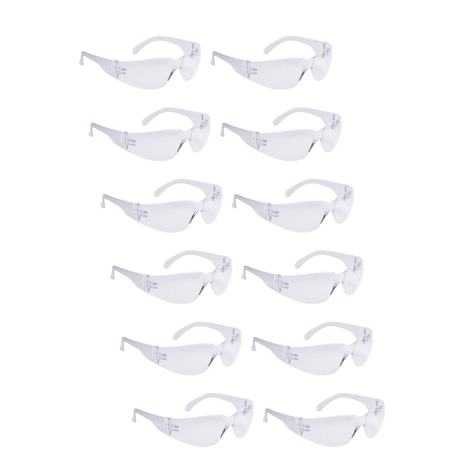 ROAR Clear Safety Glasses 12 pairs per box Eyewear Protective Glasses Safety Goggle Airsoft Goggle, Strong Impact Resistant Lens for Laboratory, Construction, Industrial Safety, Craft