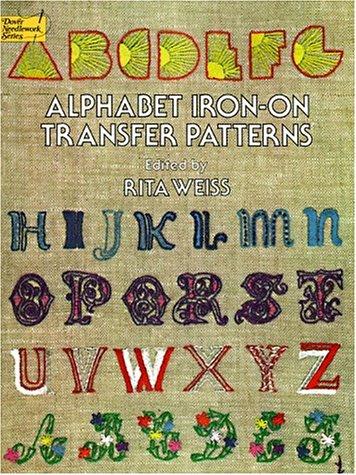 Alphabet Iron-On Transfer Patterns