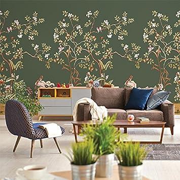Fesselnd Chinesische Blume Und Vogel Malerei, Klassische Tapete, Schlafzimmer,  Wohnzimmer, TV Hintergrund Tapete