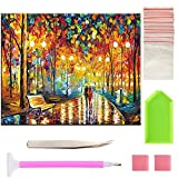 5D Diamond Painting Full Drill Kits 16X12inch Cross Stitch Set Scenery Rhinestone Embroidery for Wall Decoration Home Decor (Urban lovers)