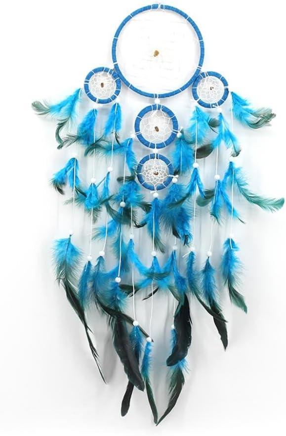 MagiDeal Attrape R/êve Indien Dream Catcher Fait Main D/écoration Voiture Maison Pendentif Cadeau Amis Bleu