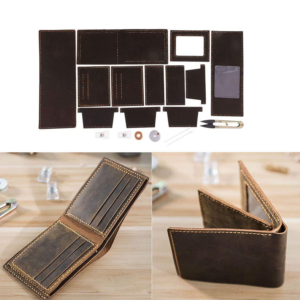 Baoblaze Kit de Billetera de Cuero DIY Costura para Monedero ...