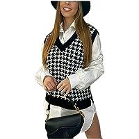 Islander Fashions Chaleco de Punto con Cuello en V de Pata de Perro para Mujer, Jersey sin Mangas para Mujer, Camiseta…