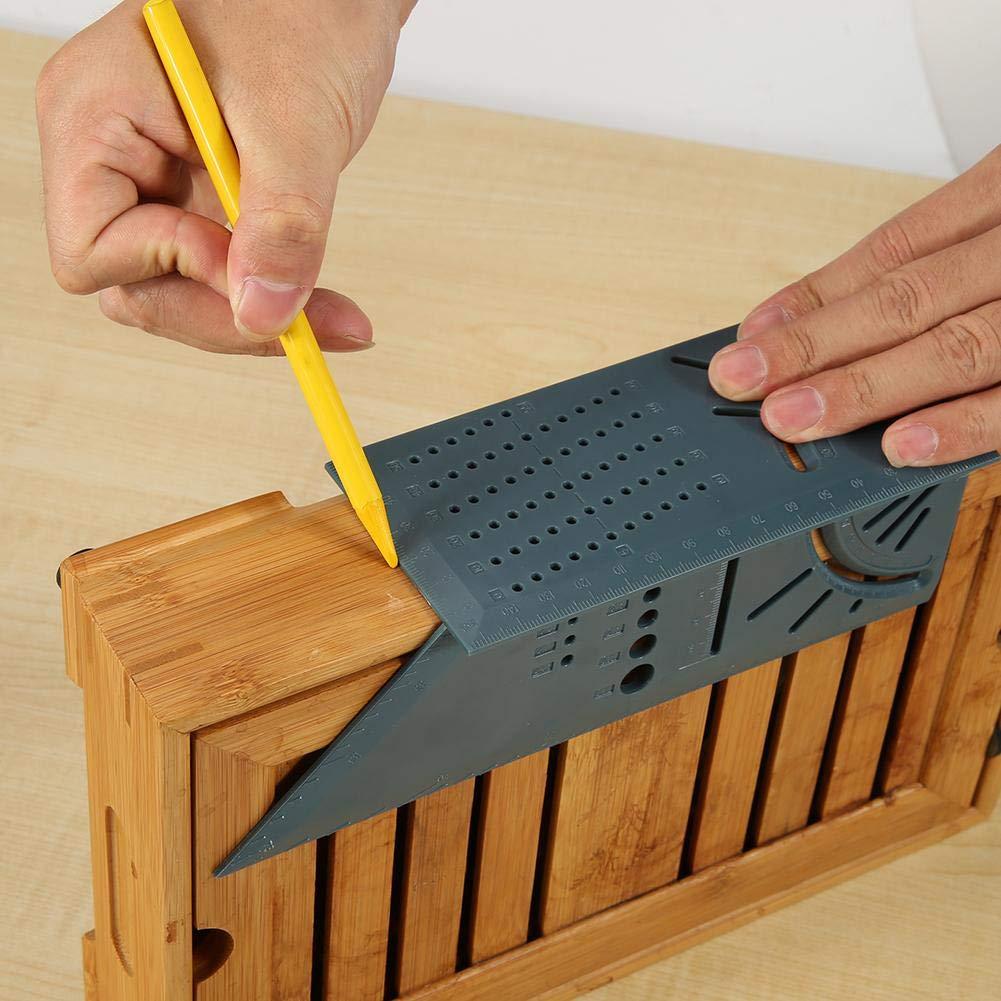 Outil de Mesure de Taille Carr/ée avec R/ègle de Jauge pour Les Constructeurs de Charpentier YestterMenuiserie en Plastique 3D Scriber R/ègle