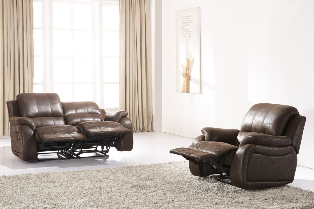 Microfaser Relax Schlafsofa Polstermöbel Fernseh Sessel 5129-2+1 ...