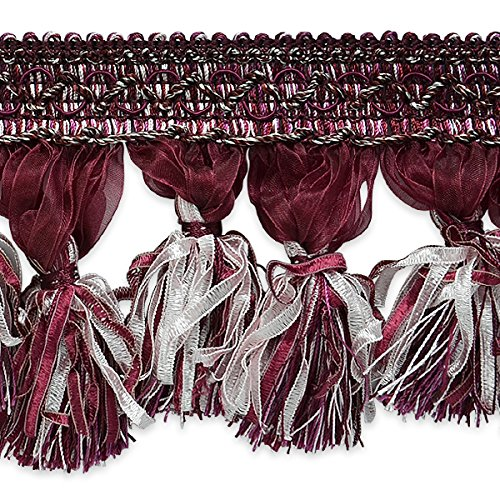 Expo International Ribbon Tassel Fringe Trim, 10 yd, Purple/Multicolor