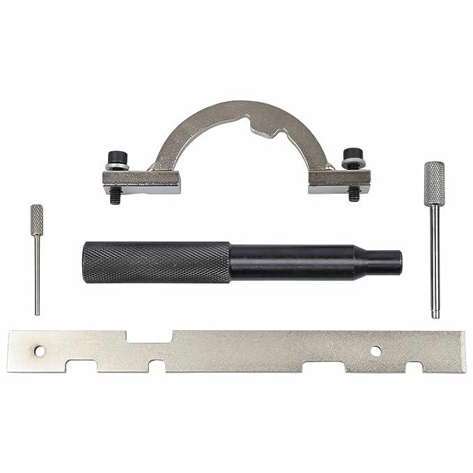 5 piezas OPEL Set de herramientas de Bloqueo Cadena distribución Herramienta Bloqueo Levas Regla OPEL Astra / Corsa B & C / Combo / Tigra B / Meriva / Agila ...