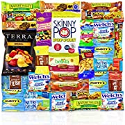 This Care Package contains the following Cookies Chips & Candies Snacks   4 Welches Fruit Snacks  1 belVita Cinnamon  3 Mott's Medley Assorted Fruit Flavored Snacks  2 Fiber One Chewy Bars, Oats & Chocolate  1 Nature Valley Fruit & Nut T...