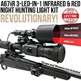 Wicked Lights A67iR 3-LED-in-1 (850nm IR, 940nm IR, Red LED) Infrared & Red Night Hunting Light Kit with Intensity Control for Night Vision Devices Review