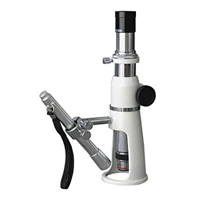 AmScope H2510 Handheld Stand Measuring Microscope, 20x/50x/100x Magnification, 17mm Field of View, Includes Pen Light: Electronics