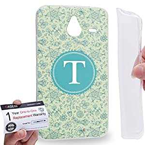 Case88 [Nokia Lumia 640XL] Gel TPU Carcasa/Funda & Tarjeta de garantía - Art Typography Fashion Alphabet T Style Art1263