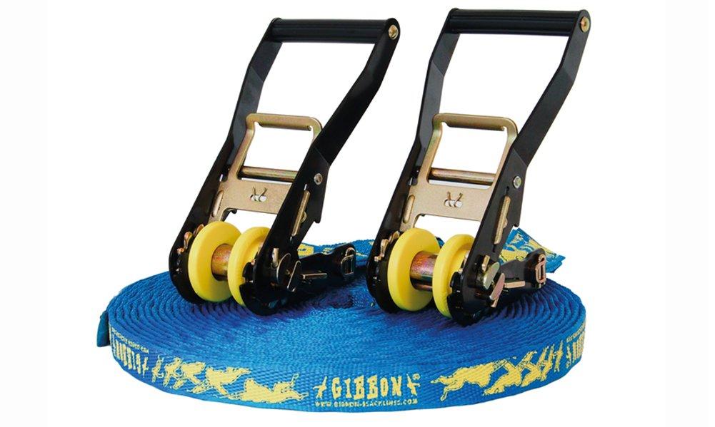Gibbon Slacklines 13895 - Set de accesorios para slackline, color azul