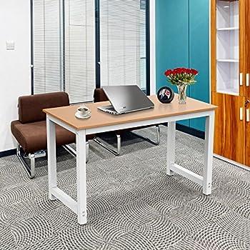 Amazon Com Yaheetech Simple Computer Desk Pc Laptop