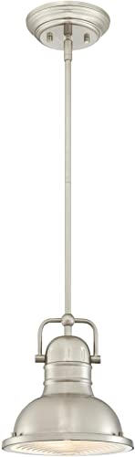 Westinghouse Lighting 6334600 Boswell One-Light LED Indoor Mini Pendant, Brushed Nickel Finish with Prismatic Lens