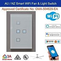 Smart WiFi Fan Light Switch for Wireless Home Automation Google Home Amazon Echo Dot Alexa Voice Lighting Control …