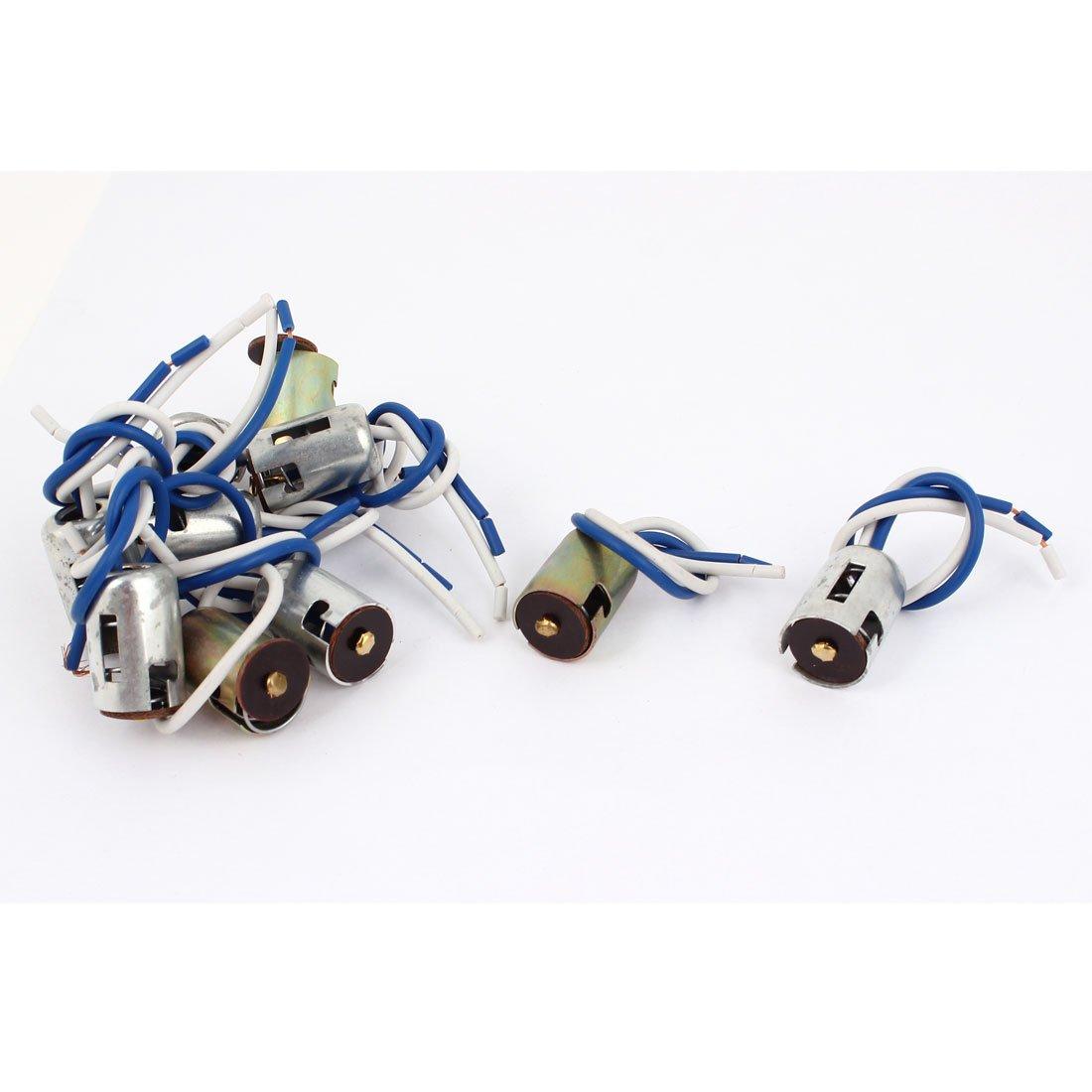 10Pcs Car LED 1156 Socket Single Foot Holder Wire