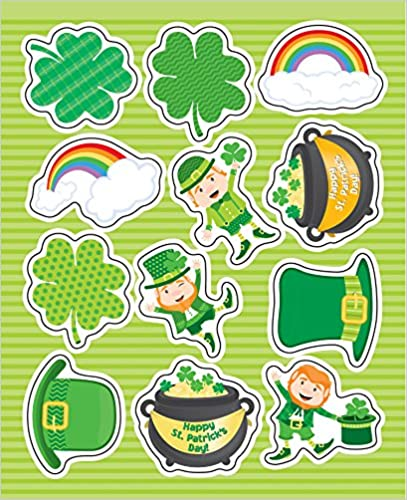 St Patricks Day Shape Stickers