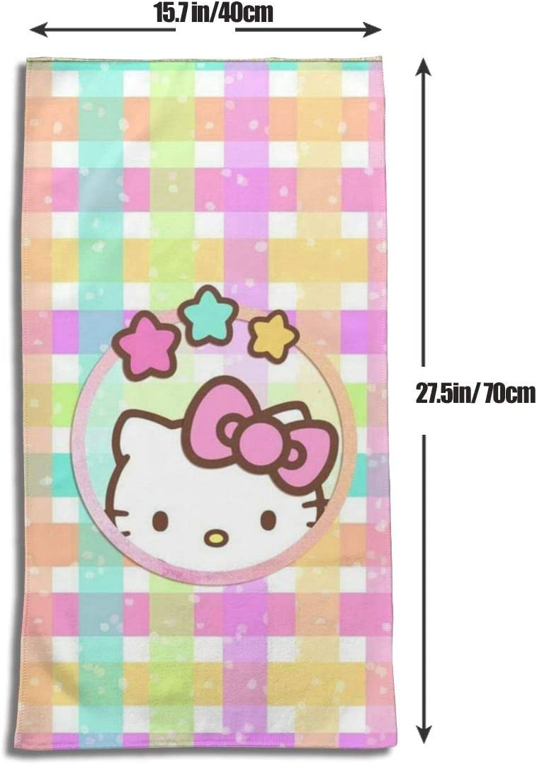 27.5 x 17.5 pulgadas Elegante casa colorida Hello Kitty suave s/úper absorbente toalla de mano de secado r/ápido//toalla de ba/ño//toalla de playa