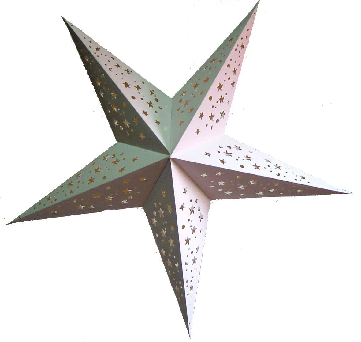 Creative paper star lanterns inhabit zone for Paper star lamp