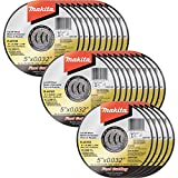 Makita B-46165-25 5'' x .032'' x 7/8'' Ultra Thin Cut-Off Wheel (25 Pack), Stainless